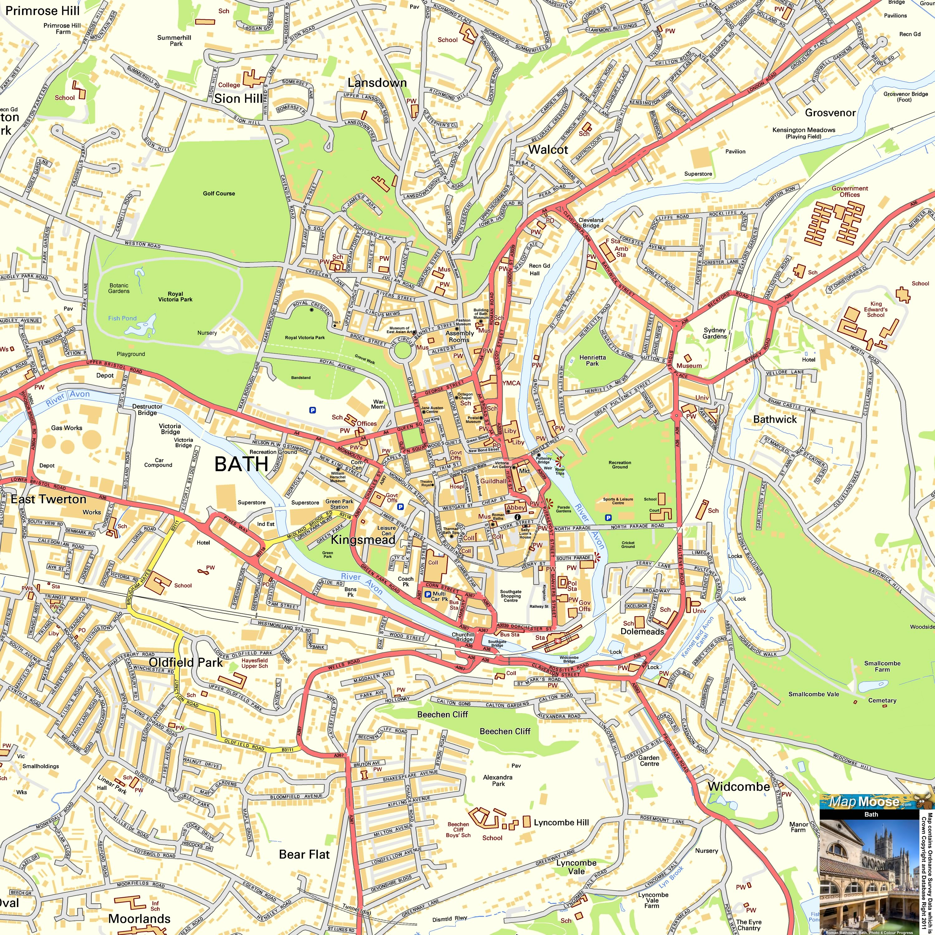 Bristol Offline Street Map including the SS Great Britain