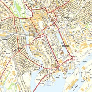 Cardiff Offline Street Map including Millenium Stadium Cardiff