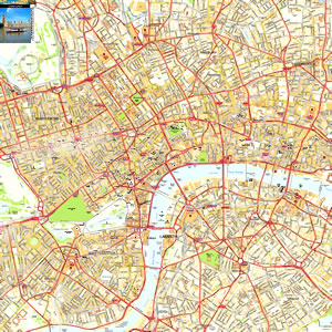London City Area Map.Central London Offline Sreet Map Including Westminter The City
