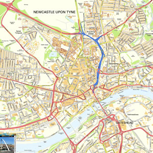 Newcastle Map